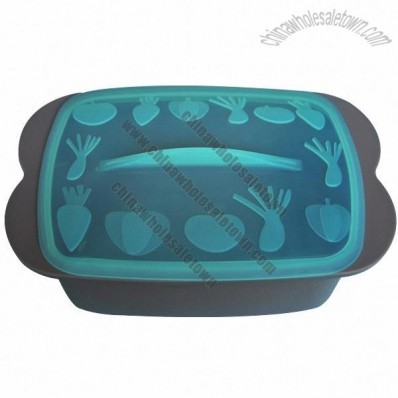 Silicone Lunch Box, Take-Away Food Container, Lunch Storage Case, Microwave Safe