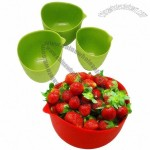 Silicone Measuring Bowl Set/Salad Bowls, Nonstick Finish and Easy to Clean
