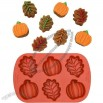 Silicone Mini Leaf and Pumpkin Mold