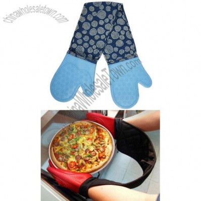 Silicone Oven Mitt/Double Gloves for BBQ/Cookie