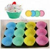 Silicone Pastel Standard Baking Cups 12 Count