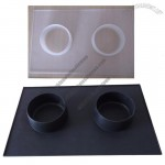 Silicone Pet Dog Mat with Feed Bowl Combo