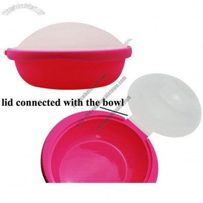 Silicone Rice, Grain Cooker, Silicone Steamer Cooker, Lid Connected to The Bowl