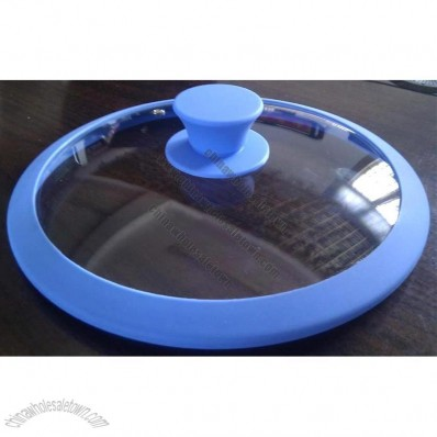 Silicone Rim Glass Lid
