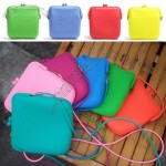 Silicone Shoulder Bag, Lady Silicone Messenger Bag, Women's Silicone Clutch Bag