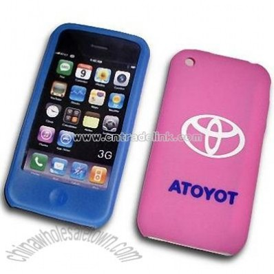 Silicone Skin Case for iPhone 3G with Printing Logo