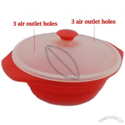 Silicone Steam Cooker, Ideal for Microwave Cooking and Steaming