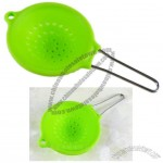 Silicone Strainer with Metal Handle