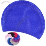 Silicone Swimming Cap with Rain Drop Emboss