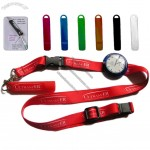 Silicone Universal Pen Holder With Neck Lanyard / Cord and Mini Watch