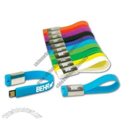 Silicone strap with USB flash drive