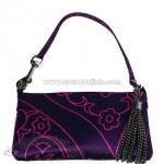 Silk Evening Bag - Purple