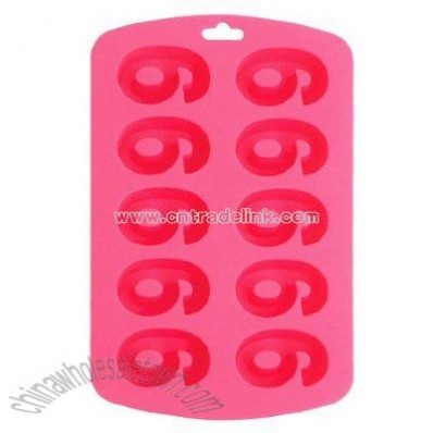 Sillycone Single Number Ice / Bake Tray
