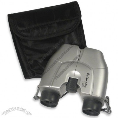 Silver 7 x 20mm Binocular Set with Case