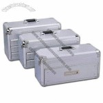 Silver/Aluminum Tool Cases with Drawers