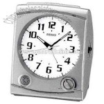 Silver Clock with metallic case