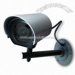 Silver Dummy Camera with 360 Degrees Camera Angle