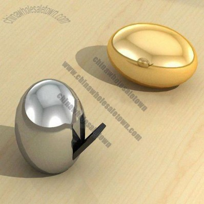 Silver/Gold Egg Shaped USB Flash Drive