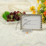 Silver Pearl Alloy Frame and Place Card Holder