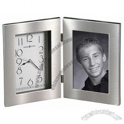 Silver Picture Frame Clock
