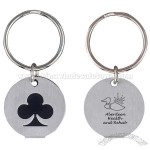Silver Plated Club Keychain