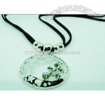 Silver-Plated Crsytal Necklace