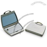 Silver Plated Purse Shaped Compact Mirror