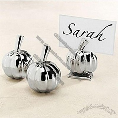 Silver Pumpkin Placecard Holders