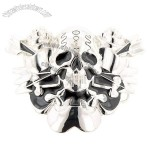 Silver Skull Belt Buckle (Arrows)