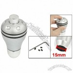 Silver Tone Aluminium Round Head Gear Shift Lever Knob for Auto Car