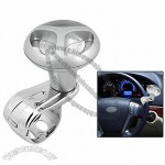 Silver Tone Plastic Car Steering Wheel Spinner Knob Handle