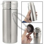 Silver Tone Stainless Steel Double Layers Vacuum Cup Mug 340ml