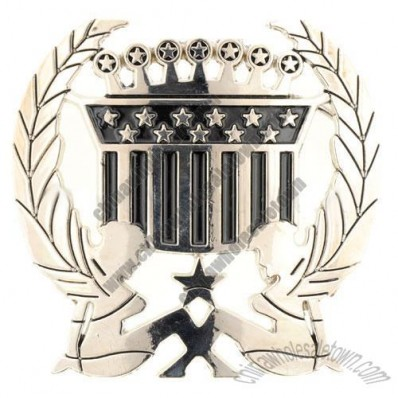 Silver USA Belt Buckle (Crown)