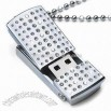 Silver bar Diamond USB Flash Drives