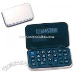 Silver metal folding solar calculator