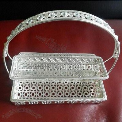 Silver-plated Caddie Holder for Wedding
