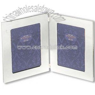 Silver plated double sided photo frame