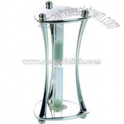 Silver triangle shape sand timer