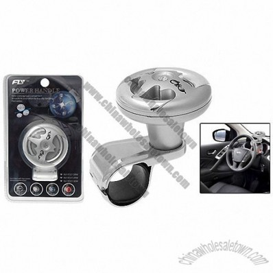 Silvery Car Hand Steering Wheel Spinner Knob Aid Power Handle