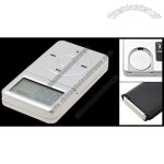 Silvery Jewelry Pocket Touch Digital LCD Weight Scale
