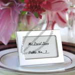 Simple Metal Place Card Frame Favor