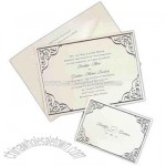 Simple Solutions Silver Lace - White card with lacey silver foil border