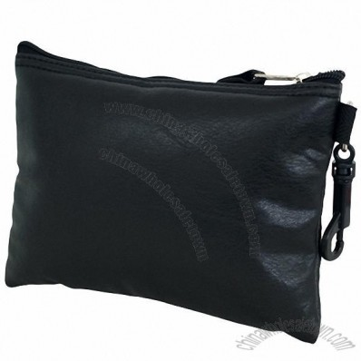 Simulated Leather Valuables Pouch