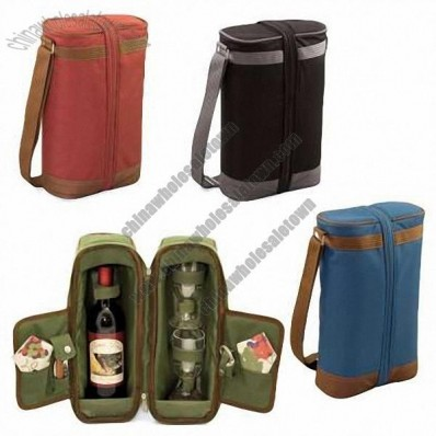 Single Bottle Deluxe Wine Tote Bag
