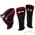Single Bottle Wine Tote Bag with Zipper