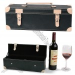 Single Wine Box With Corners Decoration