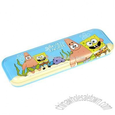 Single layer tinplate pencil box