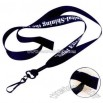 Single-ply polyester breakaway lanyard