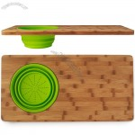Sink Drainer Cutting Board with Silicone Colander
