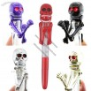 Skeleton Boxing Punching Ballpoint Pen with LED Eyes